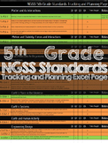 5th Grade NGSS Tracking and Planning Page Excel Doc