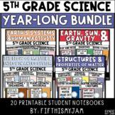 Year Long Science Bundle   Printable Notebook ONLY Bundle