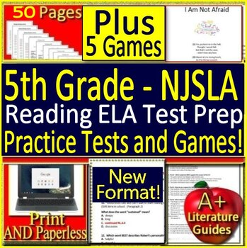 5th Grade NJSLA ELA Reading Bundle! New Jersey Student Learning Assessment