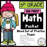 5th Grade NO PREP Math Packet