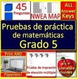 5th Grade NWEA MAP Math in Spanish: Pruebas de práctica de matemáticas Grado 5