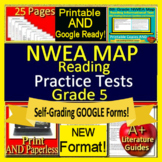 5th Grade NWEA MAP Reading Test Prep ELA Printable + SELF-GRADING GOOGLE FORMS!