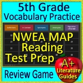 5th Grade NWEA MAP Reading Test Prep Vocabulary and Figurative Language Game