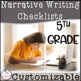 5th Grade Narrative Writing Checklist~ EDITABLE