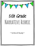 5th Grade Narrative Writing Rubric