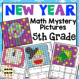 5th Grade New Year Math: 5th Grade Math Mystery Pictures