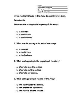 5th Grade New York Alternative Assessment ELA Standard 5.3 Story Elements