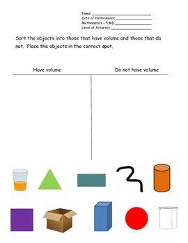 5th Grade New York Alternative Assessment Math Standard 5.MD - Volume