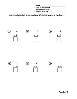 5th Grade New York Alternative Assessment Math Standard 5NBT