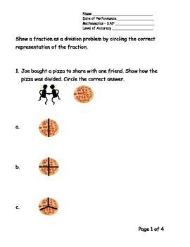 5th Grade New York Alternative Assessment Math Standard 5NF