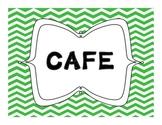 Bright Chevron CAFE Menu Headers Bulletin Board