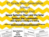 5th Grade Next Generation Science Unit Space Systems: Star Luminosity