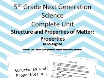5th Grade Next Generation Structure and Properties of Matter Properties