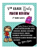 Daily Math Review: 1st Nine Weeks