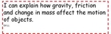 """5th Grade North Carolina Science Essential Standards """"I Can"""" Statements"""