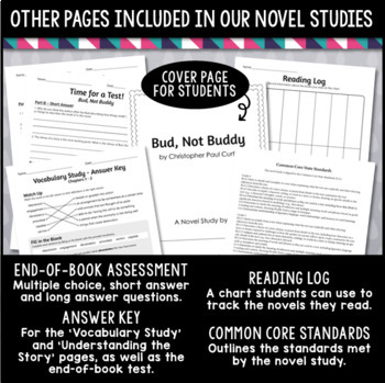 5th Grade Novel Study Bundle