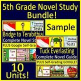 5th Grade Novel Study Bundle - FREE SAMPLE!
