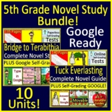 5th Grade Novel Study Bundle - Full Year of Activities and