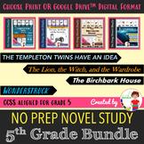 5th Grade Novel Study Bundle: SS, STEAM, & Classic Lit (Print + DIGITAL)