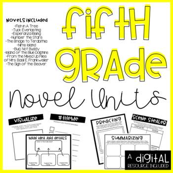 5th Grade Novel Units-Print and Go Bundle