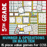 Place Value 5th Grade: 15 games for Common Core