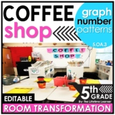 5th Grade Numerical Patterns   Coffee Shop Classroom Transformation