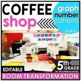 5th Grade Numerical Patterns | Coffee Shop Classroom Transformation
