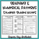 5th Grade Numerical Patterns & Graphing Student Guided Notes