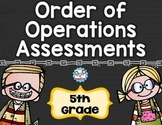 Order of Operations Tests 5th Grade