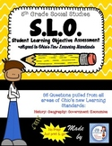 5th Grade OH Social Studies SLO (Student Learning Objective) Assessment