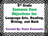 5th Grade Objectives
