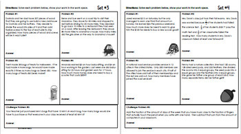 Daily Problem Solving for 5th Grade: October Word Problems (Multi-step)