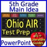 5th Grade Ohio State Test AIR Test Prep Main Idea and Text Evidence Game