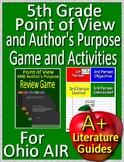 5th Grade Ohio AIR Test Prep Point of View and Author's Purpose Game Activities