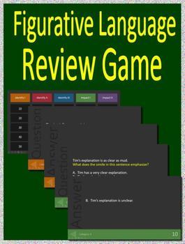 5th Grade Ohio Air Test Prep - Figurative Language Game and Google Activities