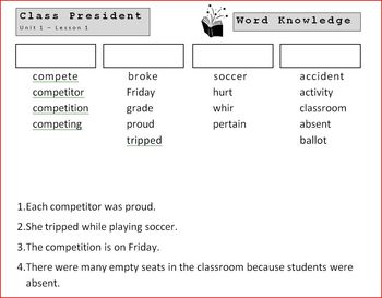 5th Grade Open Court - Word Knowledge (Unit 1 - Cooperation & Competition)