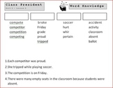 5th Grade Open Court - Word Knowledge (Unit 1 - Cooperatio