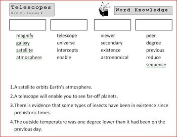 5th Grade Open Court - Word Knowledge (Unit 2 - Astronomy)