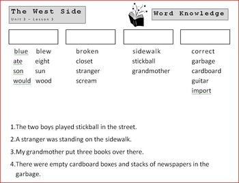 5th Grade Open Court - Word Knowledge (Unit 3-Heritage)