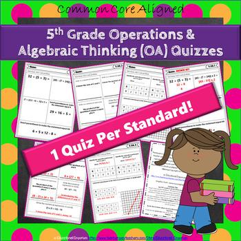 5th Grade Operations & Algebraic Thinking Quizzes: 5th Grade OA Quizzes, Math