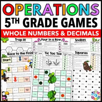 5th Grade Math Centers: 5th Grade Math Games for Whole Num
