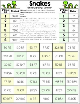 5th Grade Math Centers: 5th Grade Operations Games {5.NBT.5, 5.NBT.6, 5.NBT.7..}