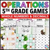 5th Grade Operations Games: 5th Grade Math Games {5.NBT.5, 5.NBT.6, 5.NBT.7}