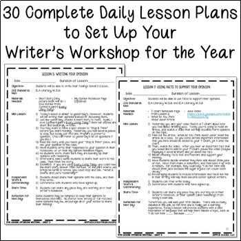 5th Grade Opinion Writing- Unit 3 {6 Weeks of CCSS Aligned Lesson Plans!}