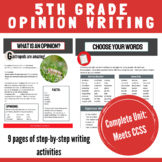 5th Grade Opinion Writing Unit
