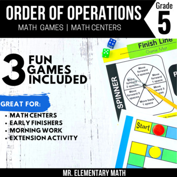 Order of Operations Games and Centers 5th Grade