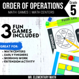 5th Grade Order of Operations Games and Centers