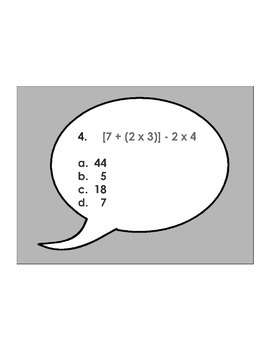 5th Grade Order of Operations ActivExpression Assessment 5.OA.A.1