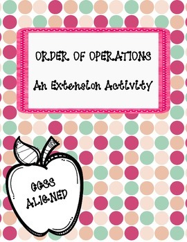 5th Grade Order of Operations Extension