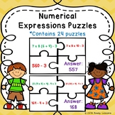 Fifth Grade Order of Operations Activity Puzzles Numerical Expression 5th 5.OA.1